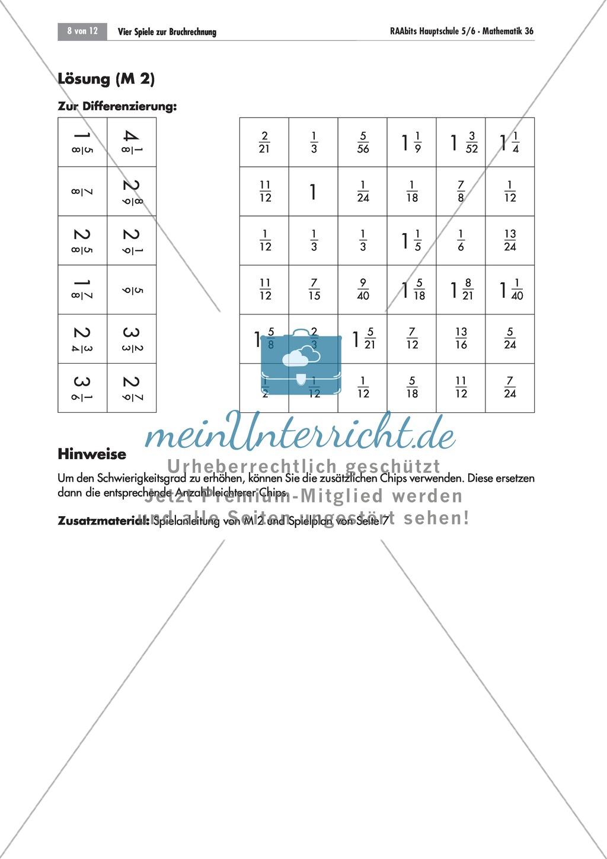 Bruchrechnen: Bruch-Springen - Ein Brettspiel zur Addition ...