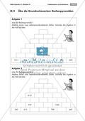 Arithmetik: Grundrechenarten mit Zahlenpyramiden üben. Mit Lösungen. Preview 1