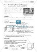 Geometrie: Unterrichtsmaterial zu den Eigenschaften von Würfel und Quader. Mit Aufgaben und Lösungen. Preview 1