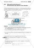 Geometrie: Unterrichtsmaterial zur Berechnung des Volumens von Würfel und Quader. Mit Infomaterial, Aufgaben und Lösungen. Preview 1