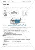 Geometrie: Unterrichtsmaterial zur Berechnung des Volumens von Würfel und Quader. Mit Infomaterial, Aufgaben und Lösungen. Preview 2