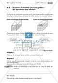 Geometrie: Unterrichtsmaterial zur Berechnung des Volumens von Würfel und Quader. Mit Infomaterial, Aufgaben und Lösungen. Preview 3