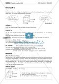 Geometrie: Unterrichtsmaterial zur Berechnung des Volumens von Würfel und Quader. Mit Infomaterial, Aufgaben und Lösungen. Preview 4
