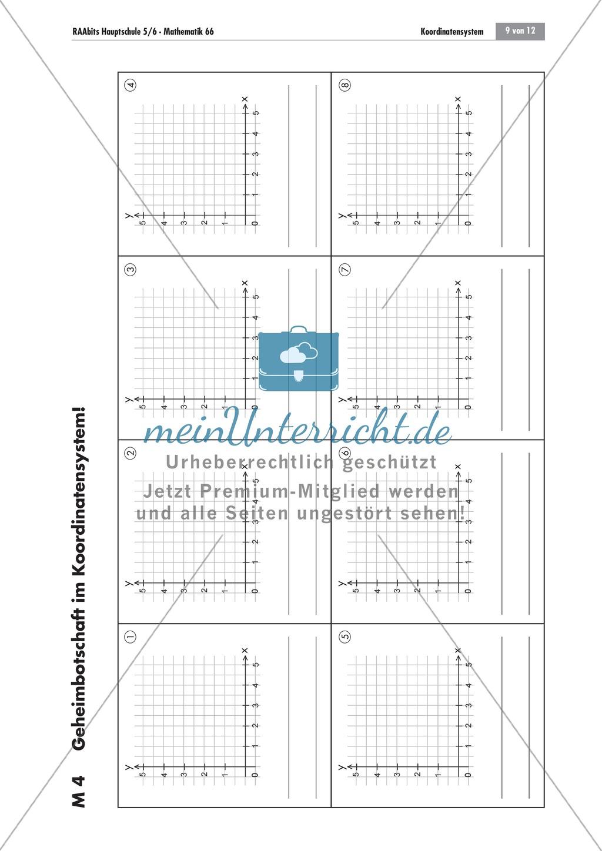 Buchstaben im Koordinatensystem darstellen und mittels Koordinaten identifizieren Preview 0