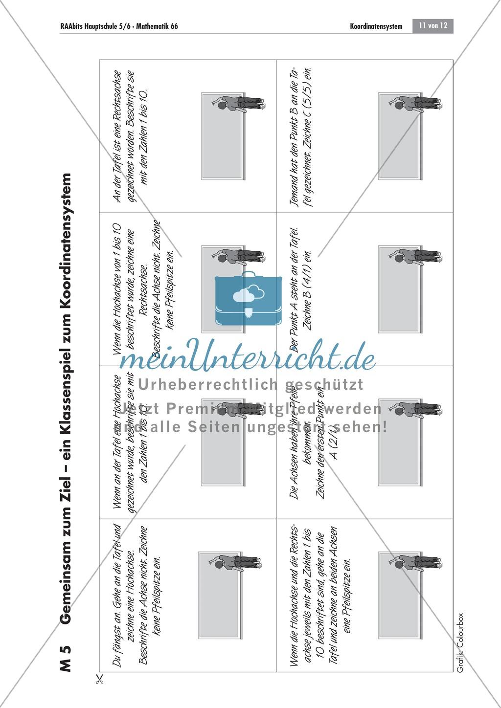 Buchstaben im Koordinatensystem darstellen und mittels Koordinaten identifizieren Preview 2