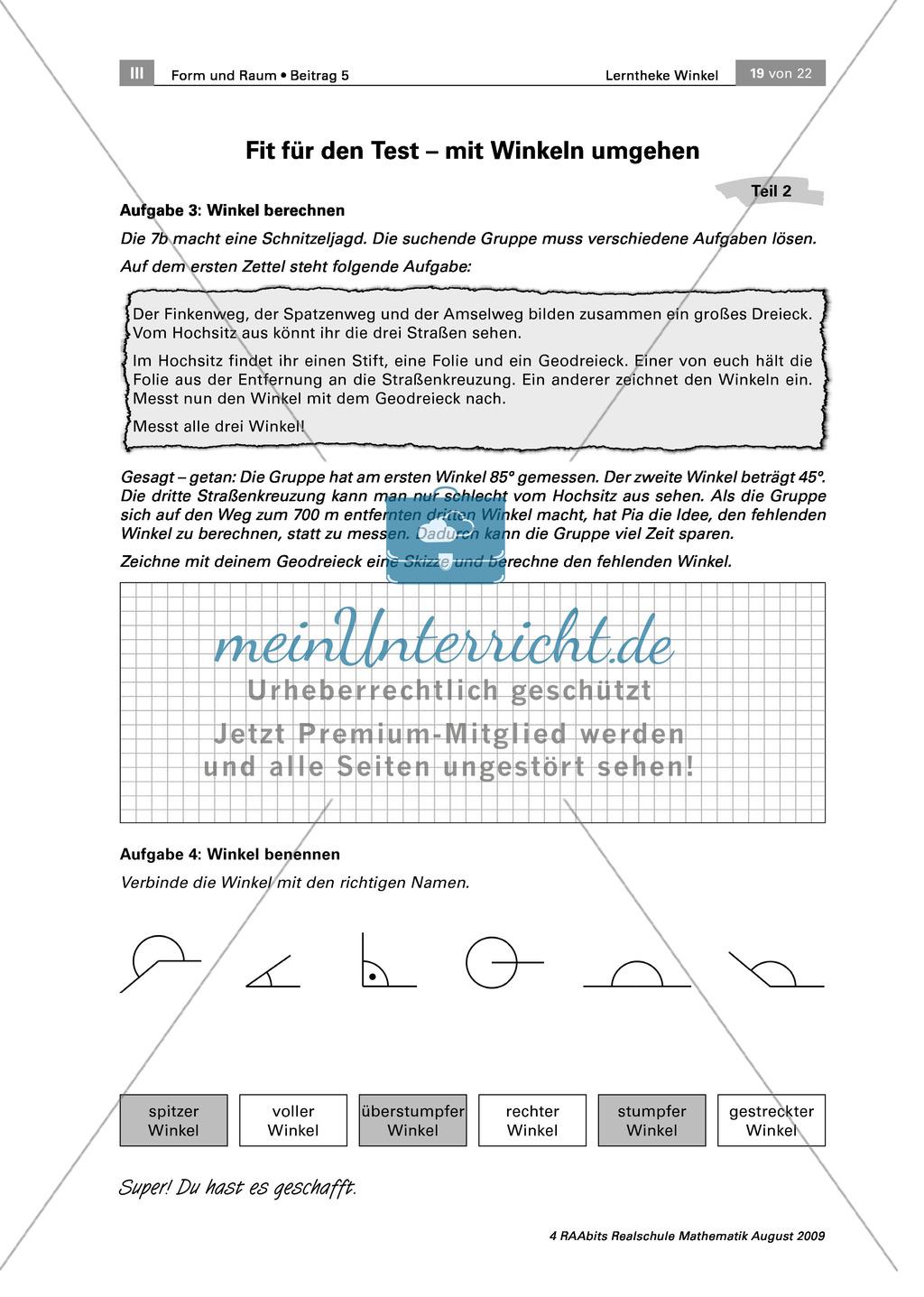 Lerntheke zu Winkeln: Winkel schätzen, zeichnen, messen und benennen ...