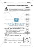 Verschiedene Multiplikationsverfahren kennen lernen: die ägyptische und arabische Multiplikation Preview 6