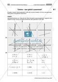Mathematik, funktionaler Zusammenhang, Funktion, lineare Gleichungssysteme, lineare Gleichungen, Graphen linearer Funktionen, lösungsverfahren
