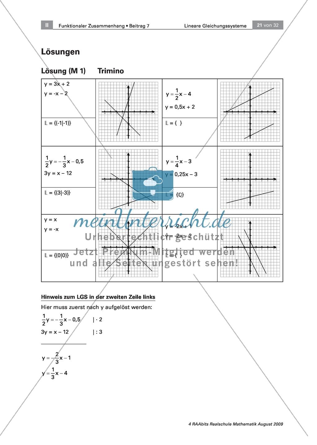 Spielerische Aufgaben zur Lösbarkeit von linearen Gleichungssystemen ...