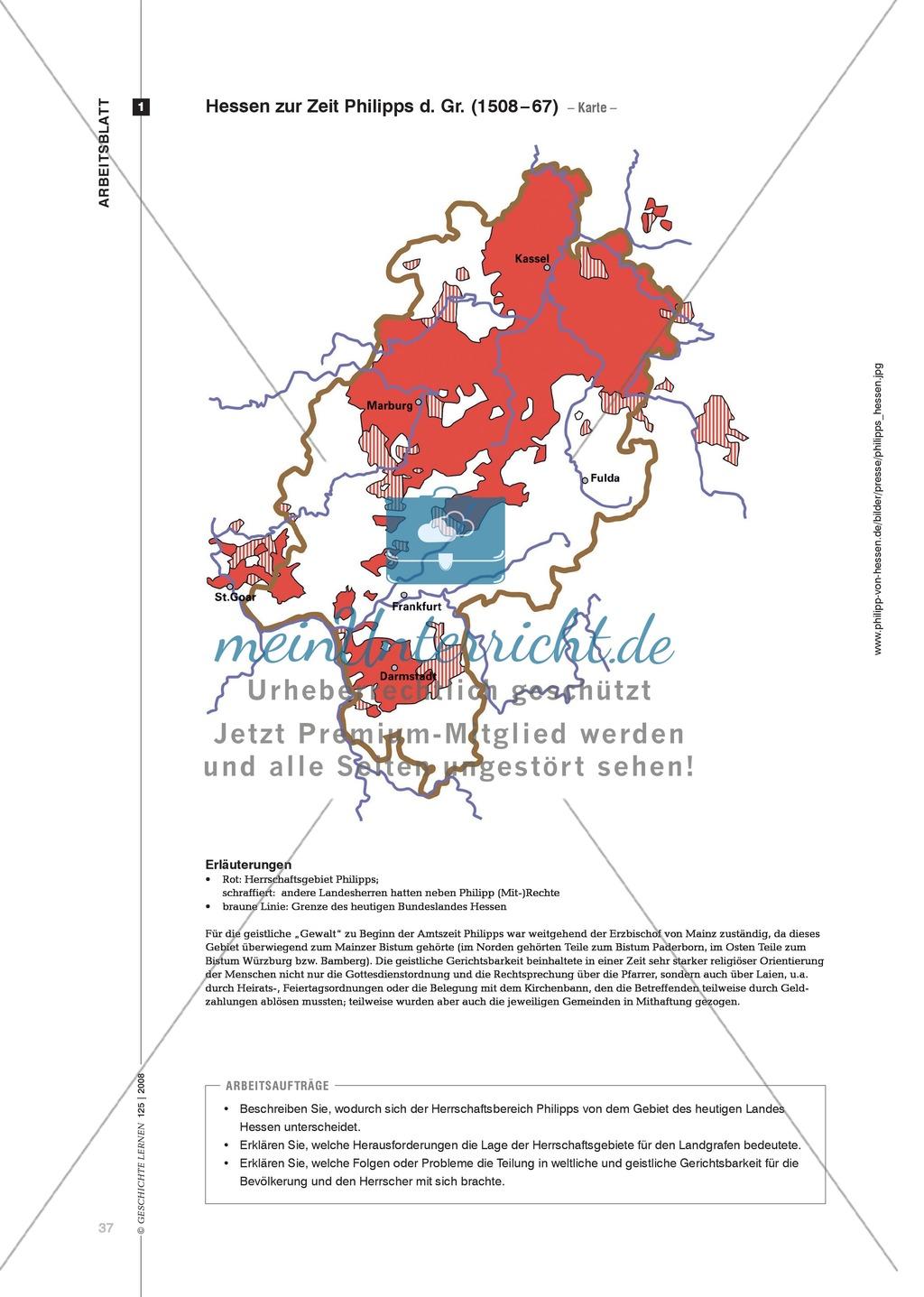 Marco Blöcher, Werner Michel: Quellenanalyse in arbeitsteiliger Gruppenarbeit zu den Auswirkungen der Reformation am Beispiel des Landgrafen Philipp von Hessen Preview 3