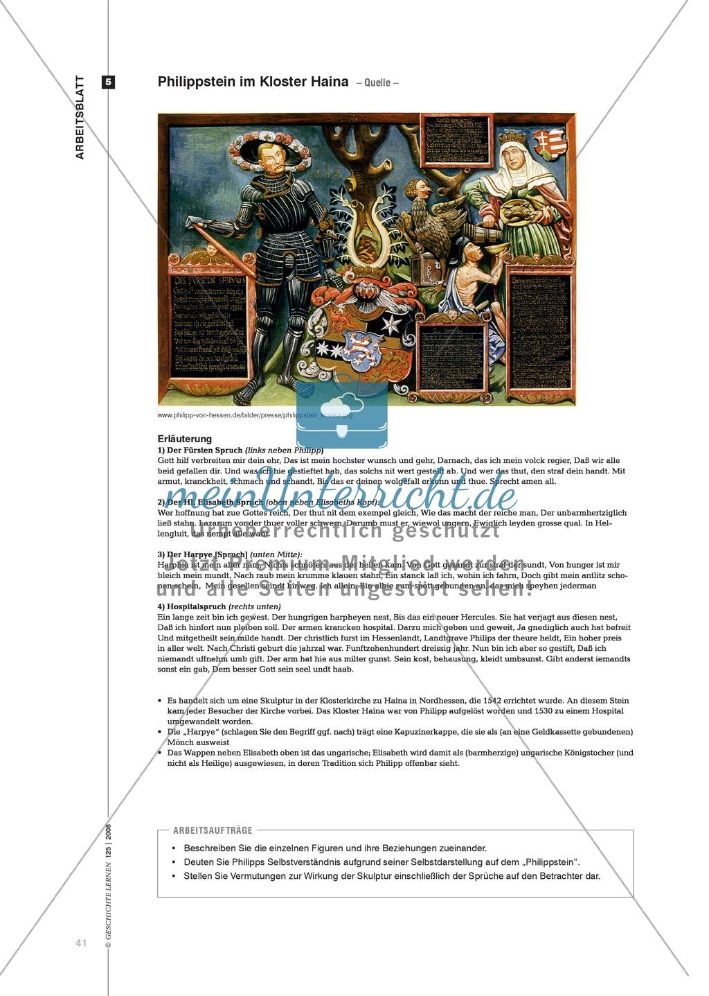 Marco Blöcher, Werner Michel: Quellenanalyse in arbeitsteiliger Gruppenarbeit zu den Auswirkungen der Reformation am Beispiel des Landgrafen Philipp von Hessen Preview 7