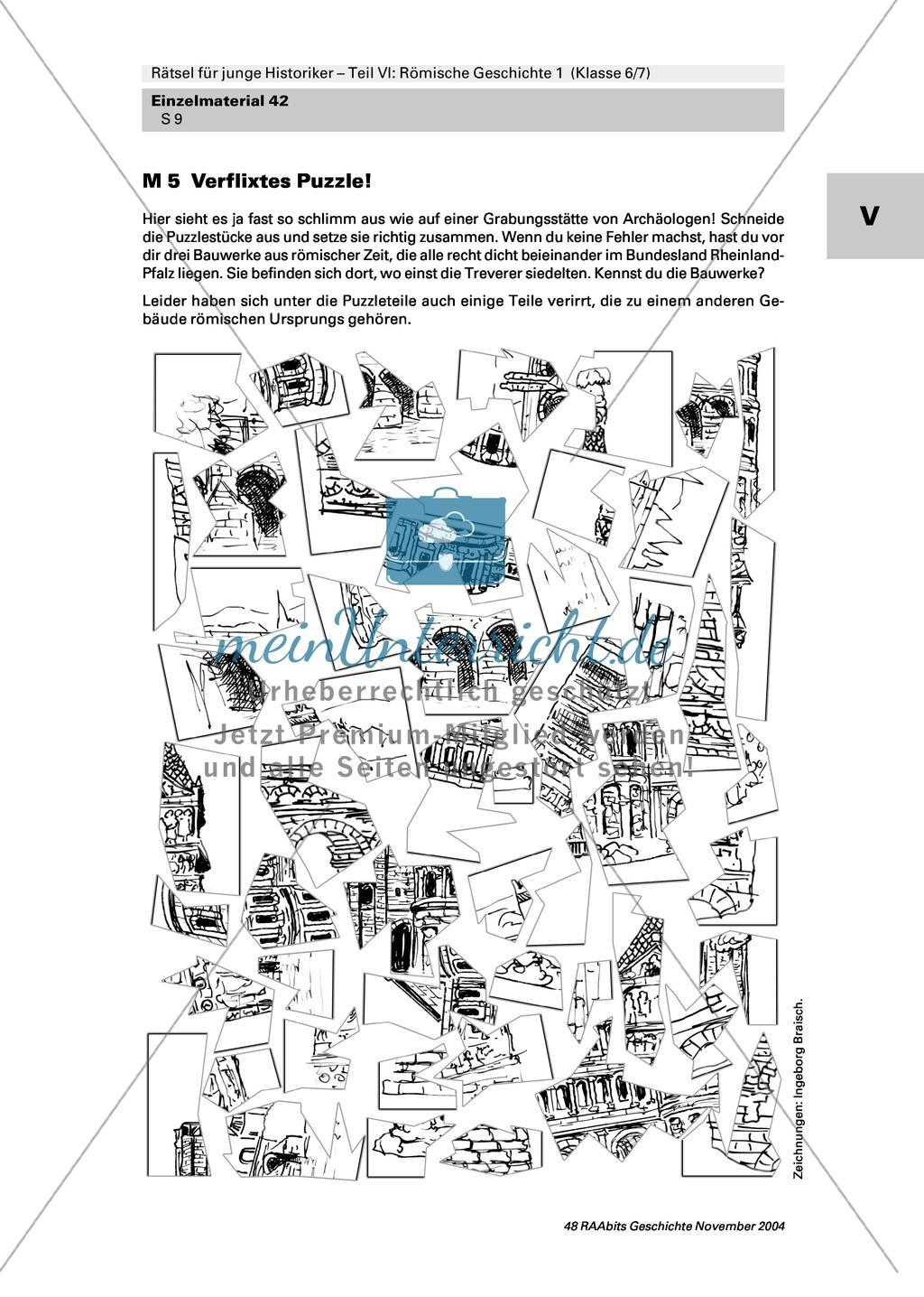 Antike: Rätsel und Spiele zur römischen Geschichte Preview 7