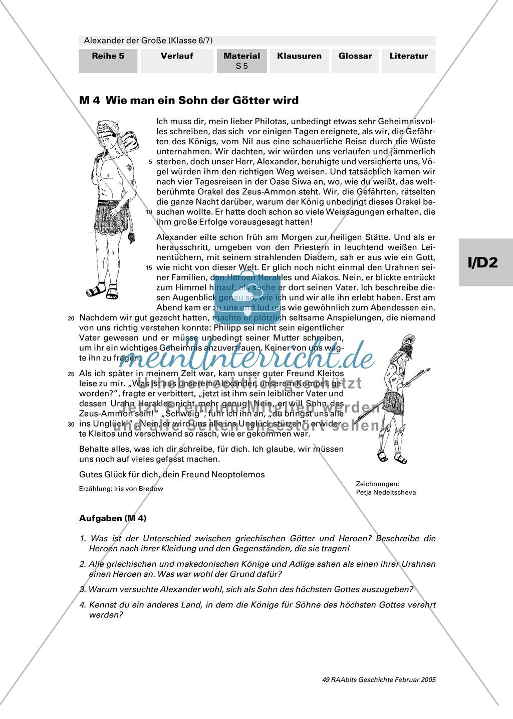 Alexander der Große: Eroberungsfeldzüge an Autorentexten, Karten, Bildern Preview 0