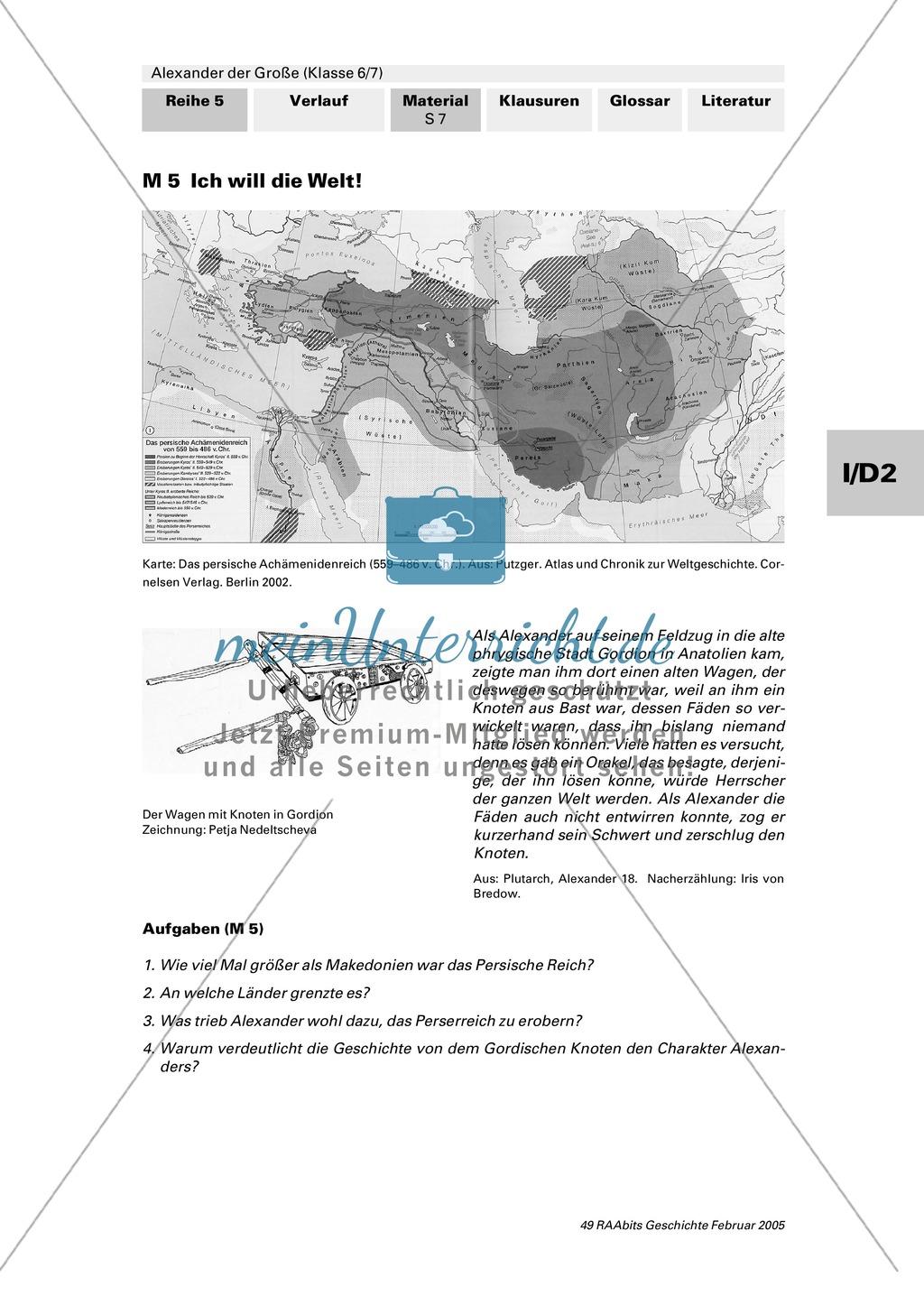 Alexander der Große: Eroberungsfeldzüge an Autorentexten, Karten, Bildern Preview 2