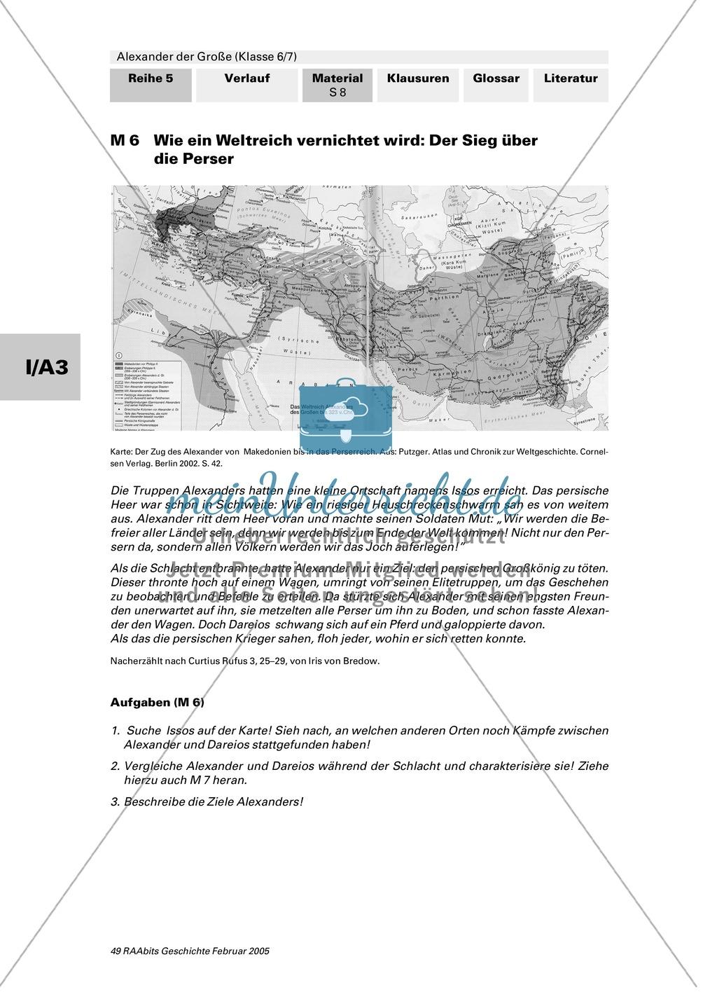 Alexander der Große: Eroberungsfeldzüge an Autorentexten, Karten, Bildern Preview 3