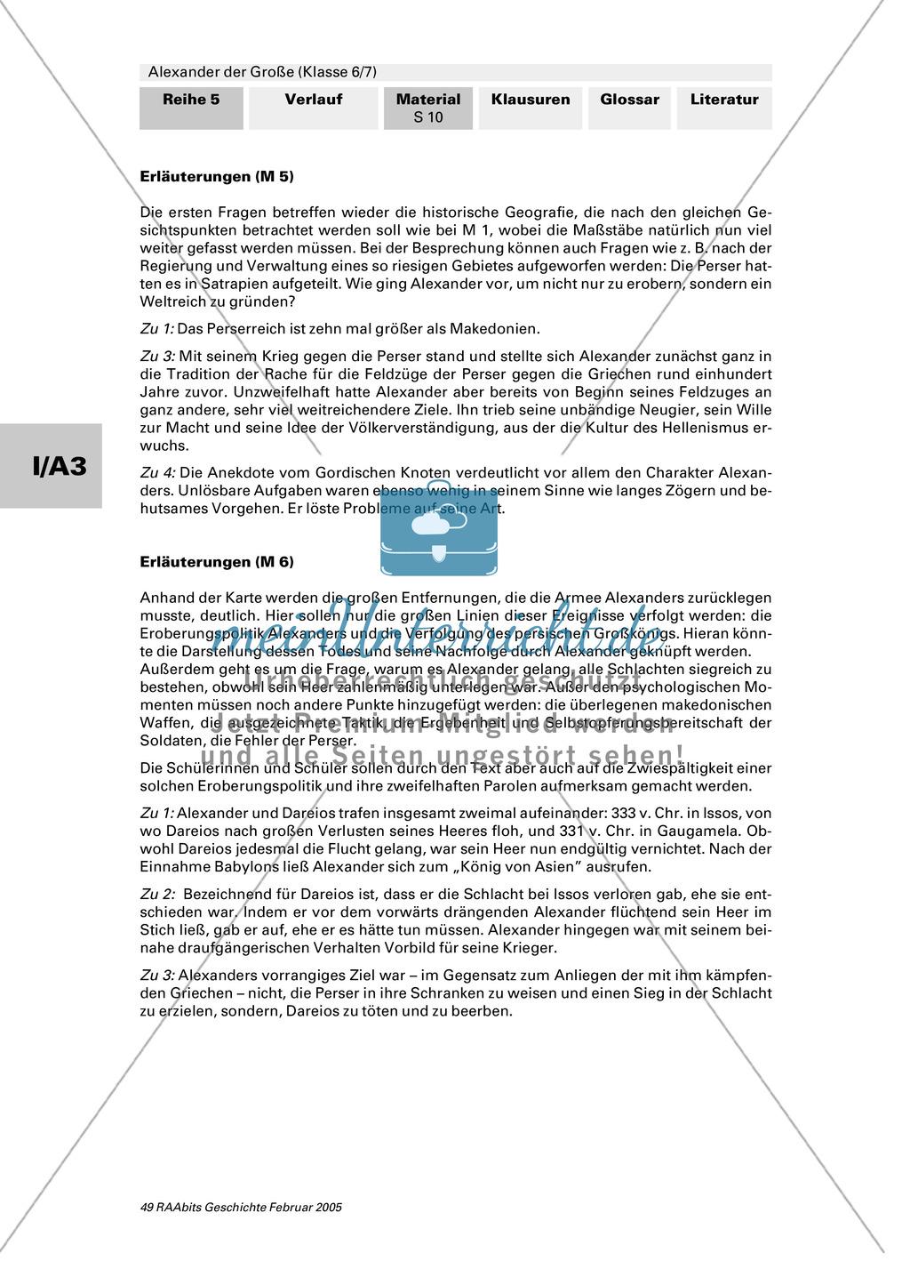 Alexander der Große: Eroberungsfeldzüge an Autorentexten, Karten, Bildern Preview 6