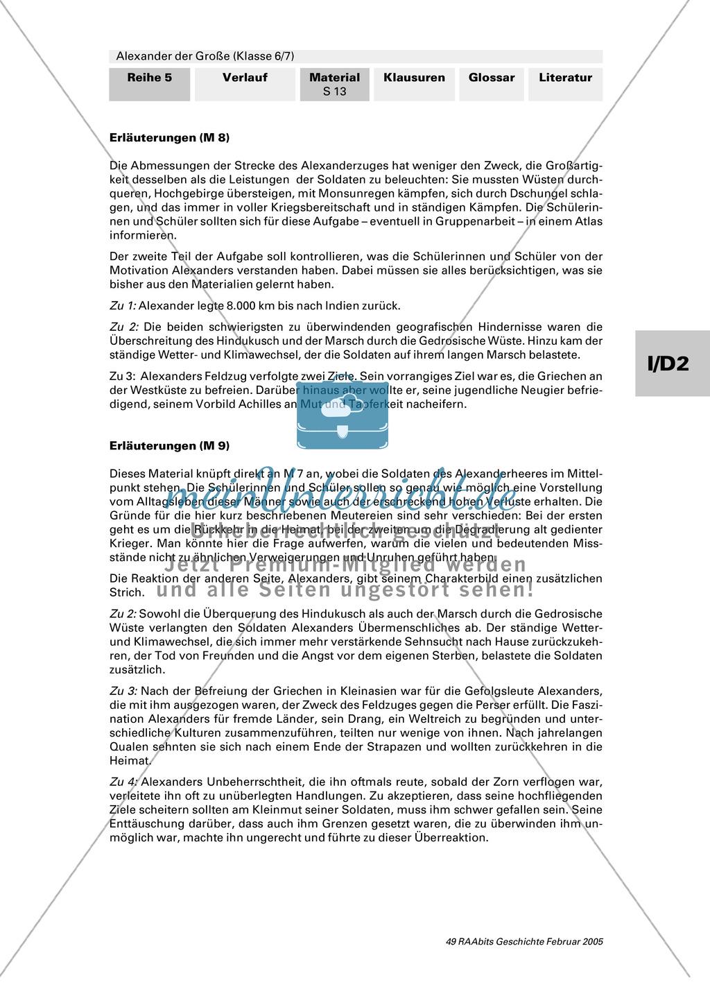 Alexander der Große: Eroberungsfeldzüge an Autorentexten, Karten, Bildern Preview 8