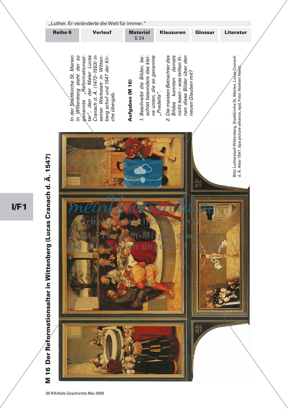 Der Reformationsaltar in Wittenberg: Gemälde von Lucas Cranach 1547 Preview 1