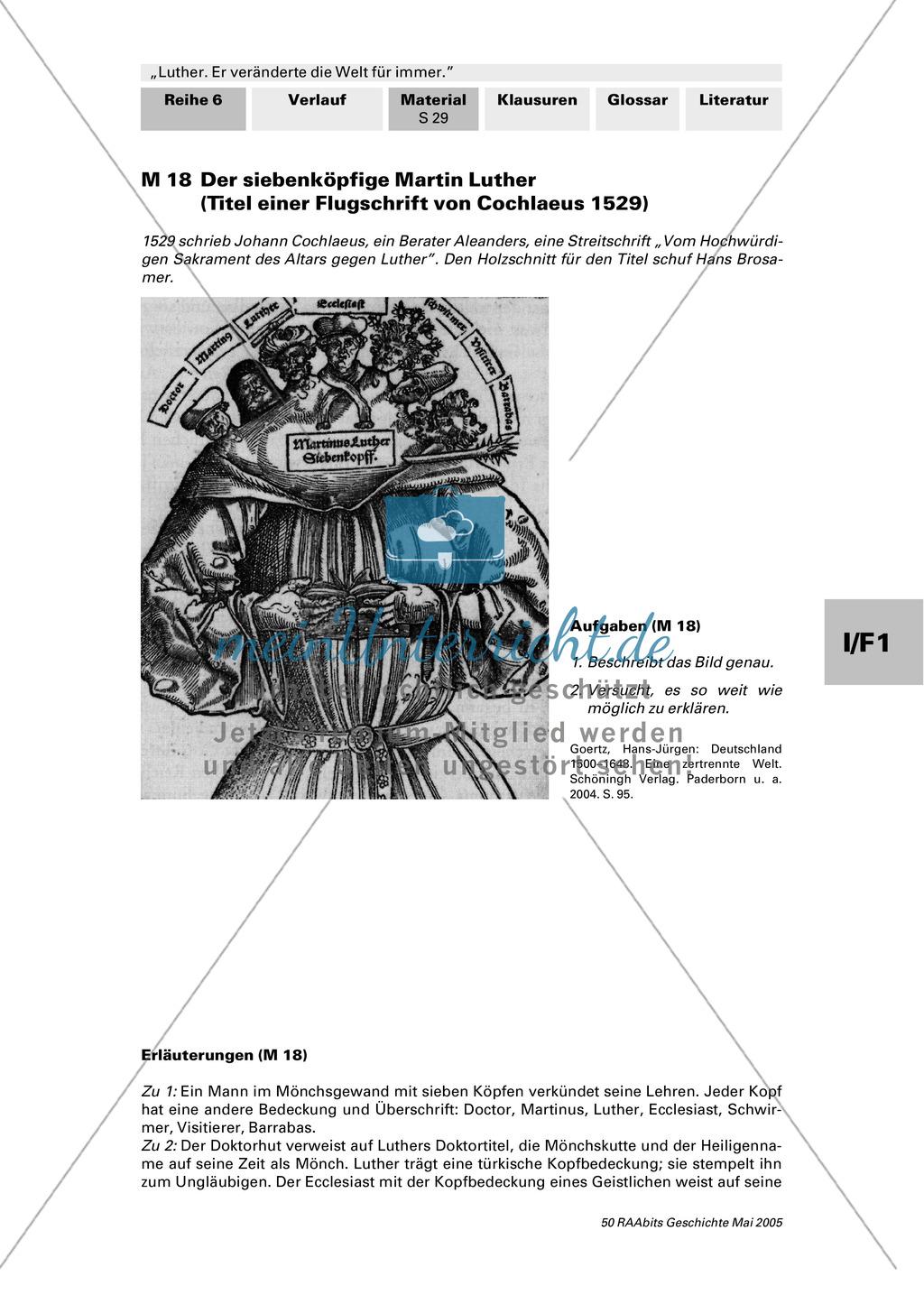 Flugschrift von 1529: Lucas Cranach: