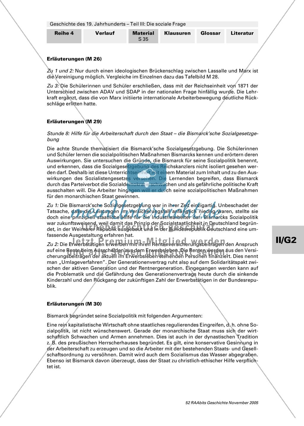 Geschichte des 19. Jahrhunderts: Hilfe für die Arbeiterschaft durch den Staat - die Sozialgesetzgebung Bismarcks Preview 2