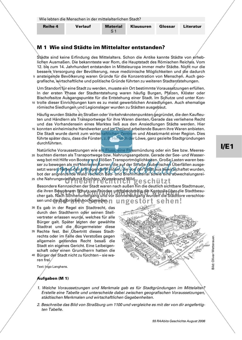 Patrizier, Bürger, Zunftgenosse: Entstehung der mittelalterlichen Stadt Preview 0