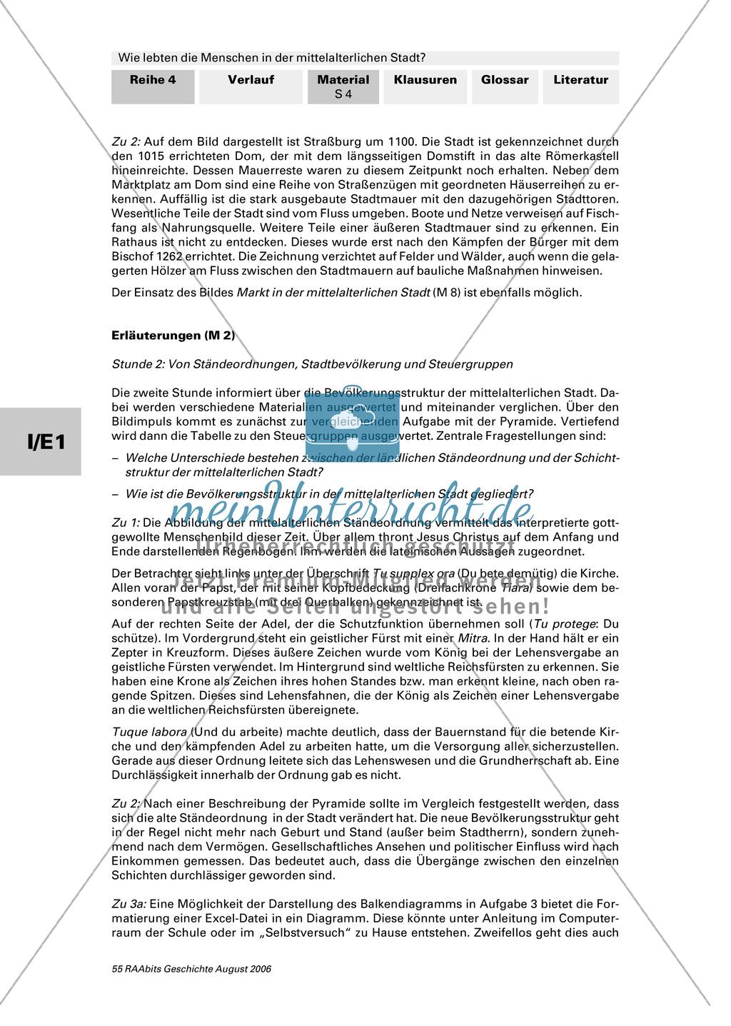 Patrizier, Bürger, Zunftgenosse: Gesellschaftsordnung in der mittelalterlichen Stadt + 3 Quellen zum Stadtrecht: 1200, 1214, 1263 Preview 1