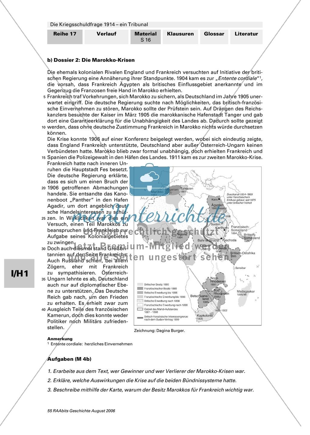 Die Kriegsschuldfrage 1914 - ein Tribunal: Vorbereitung des Rollenspiels mithilfe von Quellen (Depeschen, Telegramme, Dossiers) + Einbettung in den historischen Kontext Preview 11