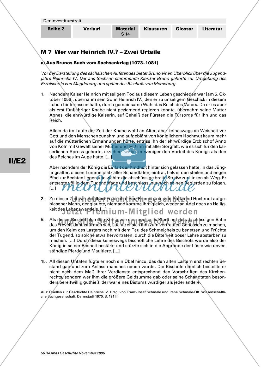 Der Investiturstreit: Der Konflikt zwischen Gregor VII. und Heinrich IV. - personengeschichtliche Hintergründe Preview 1