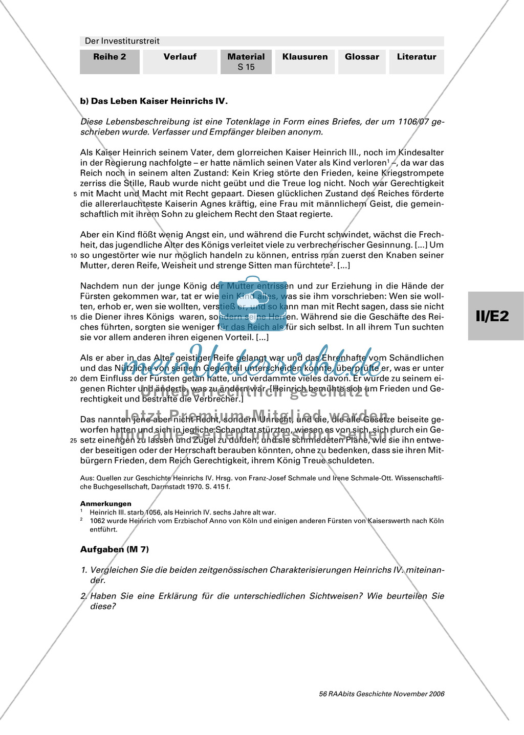 Der Investiturstreit: Der Konflikt zwischen Gregor VII. und Heinrich IV. - personengeschichtliche Hintergründe Preview 2