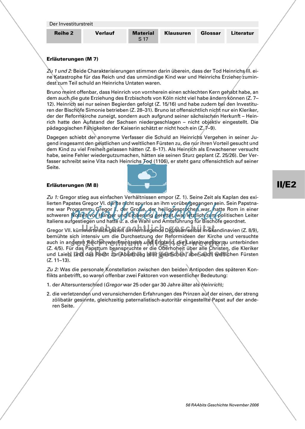 Der Investiturstreit: Der Konflikt zwischen Gregor VII. und Heinrich IV. - personengeschichtliche Hintergründe Preview 4