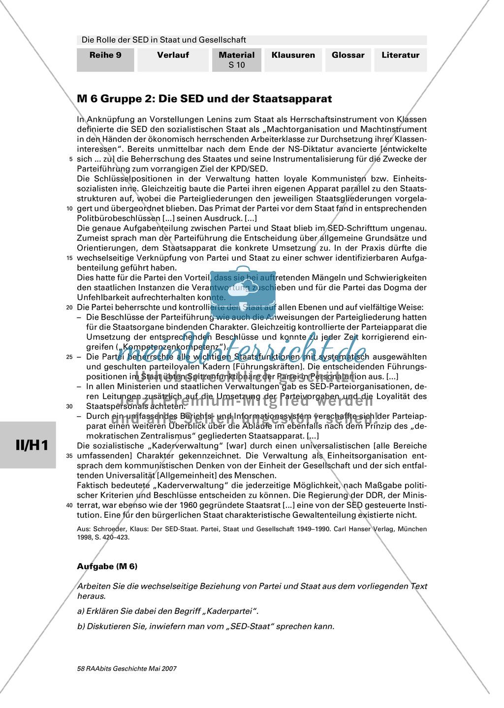 Die Rolle der SED im Staat: Anspruch auf die führende Rolle in allen Lebensbereichen. Klärung zentraler Begriffe Preview 3