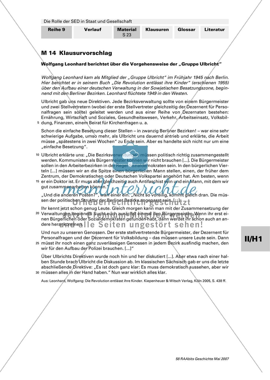 Die Rolle der SED in Staat und Gesellschaft. Preview 0