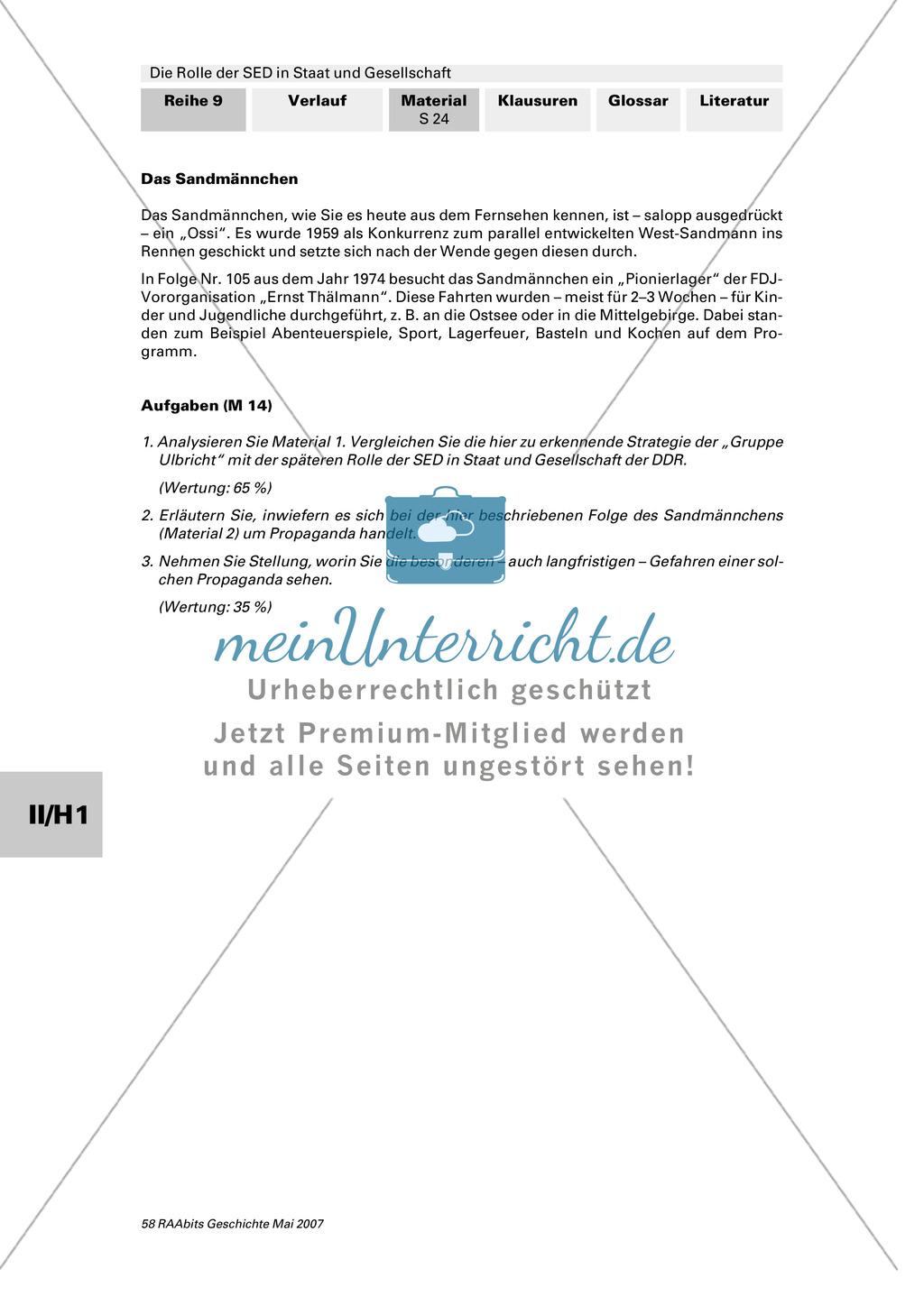 Die Rolle der SED in Staat und Gesellschaft. Preview 1