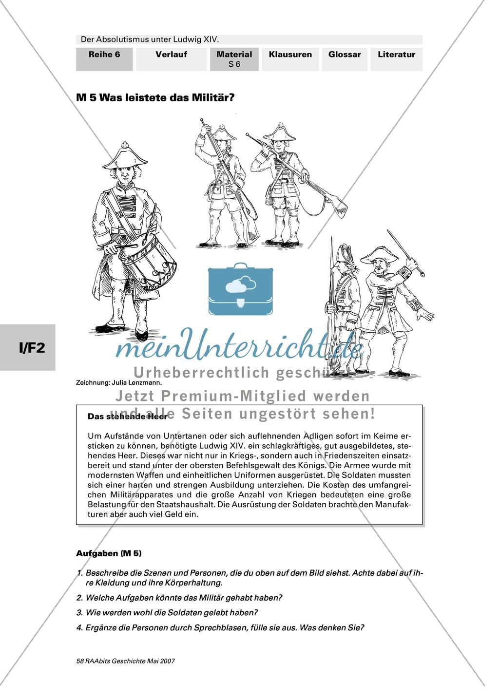 Adel, Klerus, Bauern und Bürger im Absolutismus unter Ludwig XIV.:Erarbeitung anhand von Abildungen Preview 5