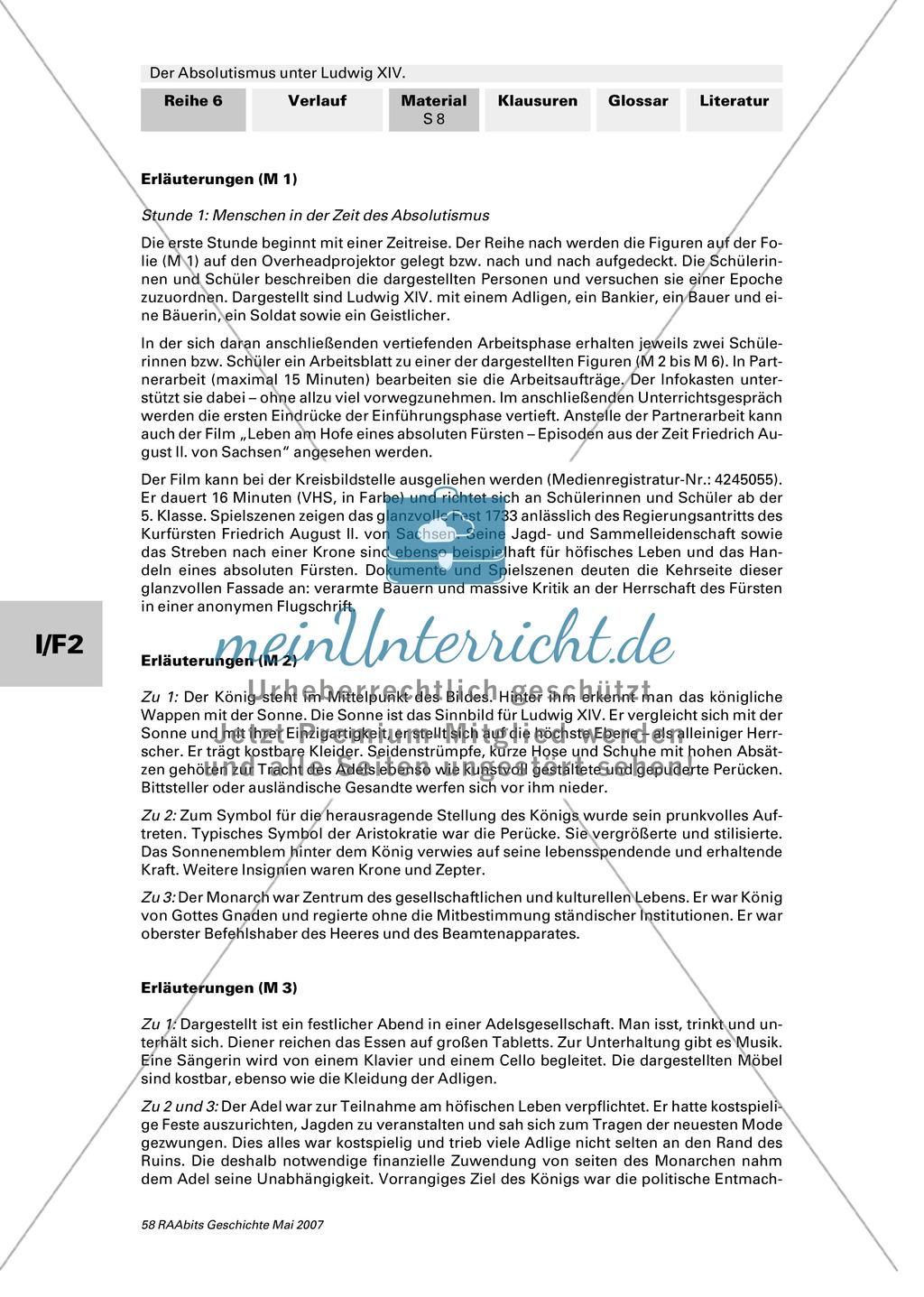 Adel, Klerus, Bauern und Bürger im Absolutismus unter Ludwig XIV.:Erarbeitung anhand von Abildungen Preview 7