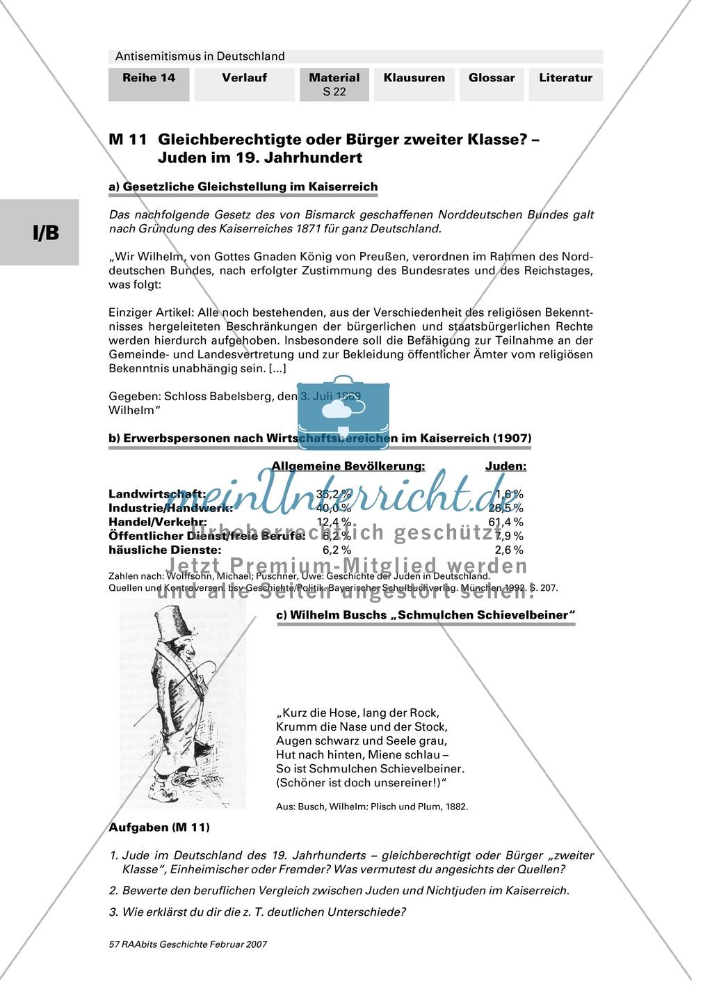 Antisemitismus in Deutschland: Juden im Kaiserreich: Zwischen Anpassung und Ausgrenzung Preview 0