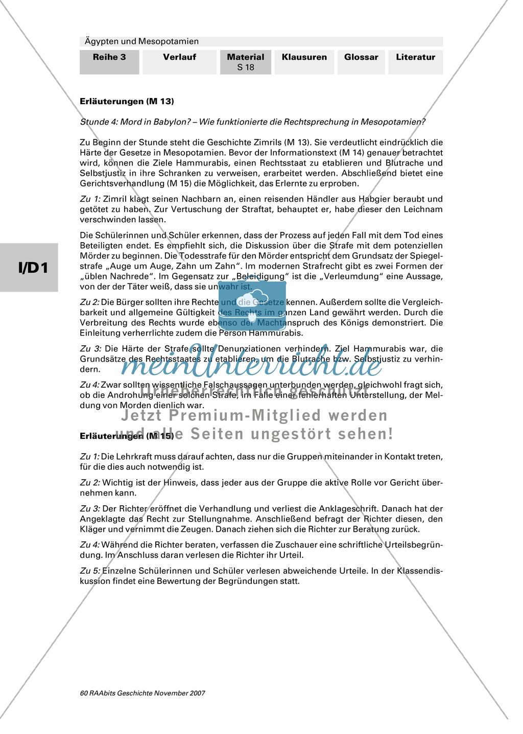 Staatliche und gesellschaftliche Organisation:Die Rechtssprechung in Mesopotamien Preview 2