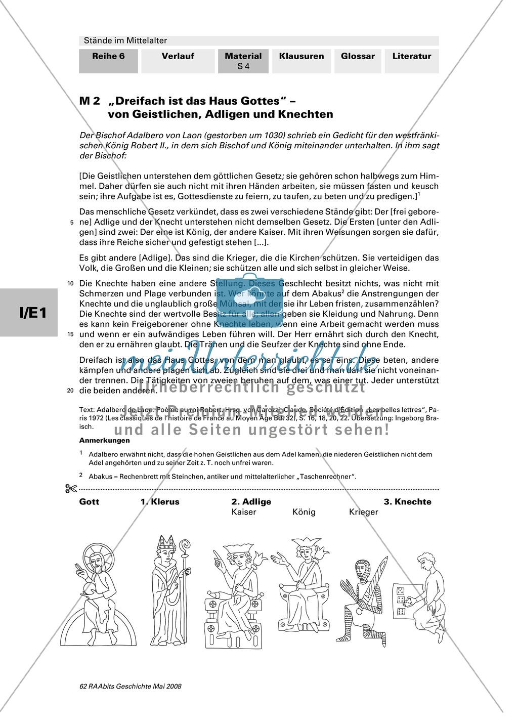 Gesellschaftsordnung und Berufe heute und im Mittelalter Preview 3