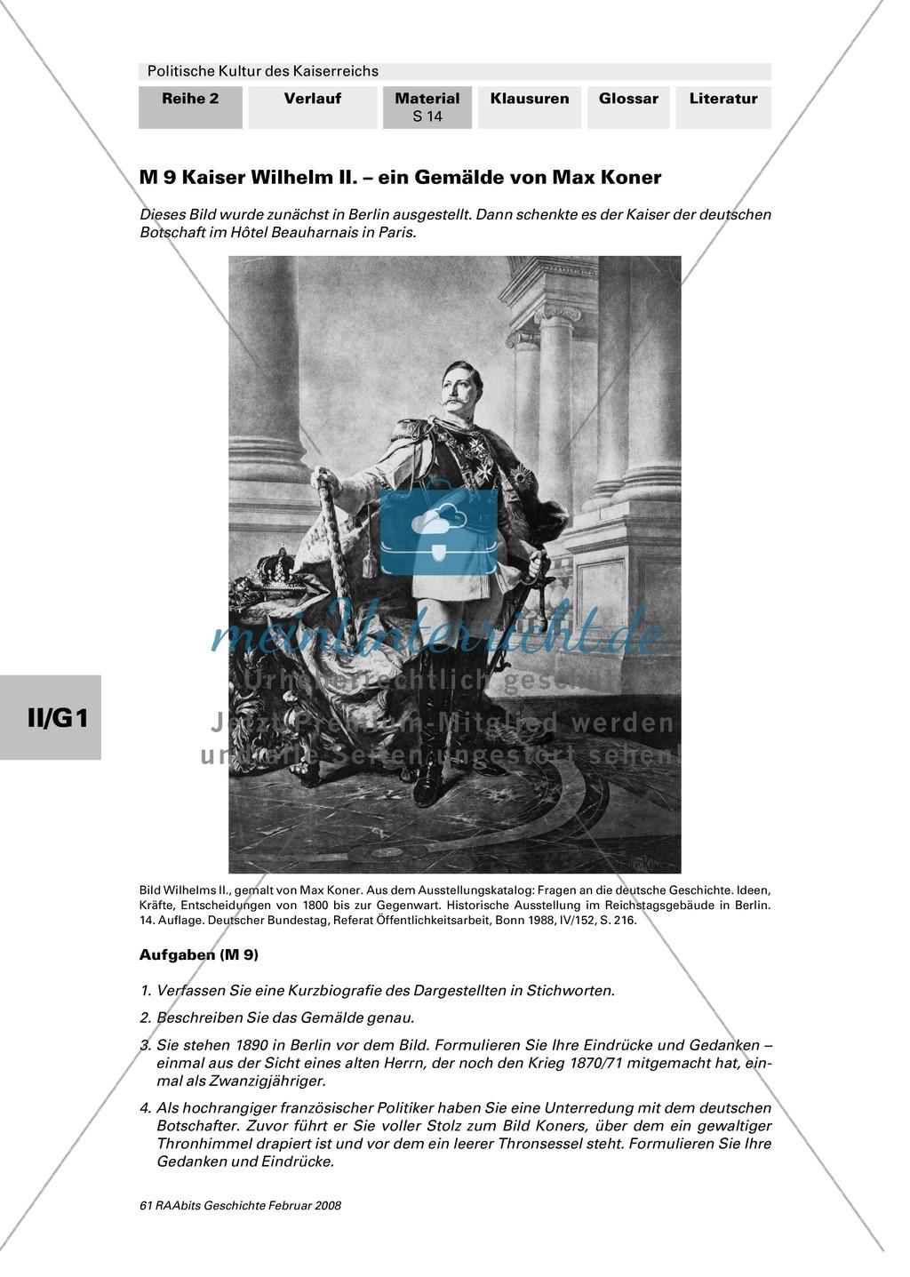 Politische Kultur des Kaiserreichs: Die Gesellschaft im Kaiserreich Preview 1