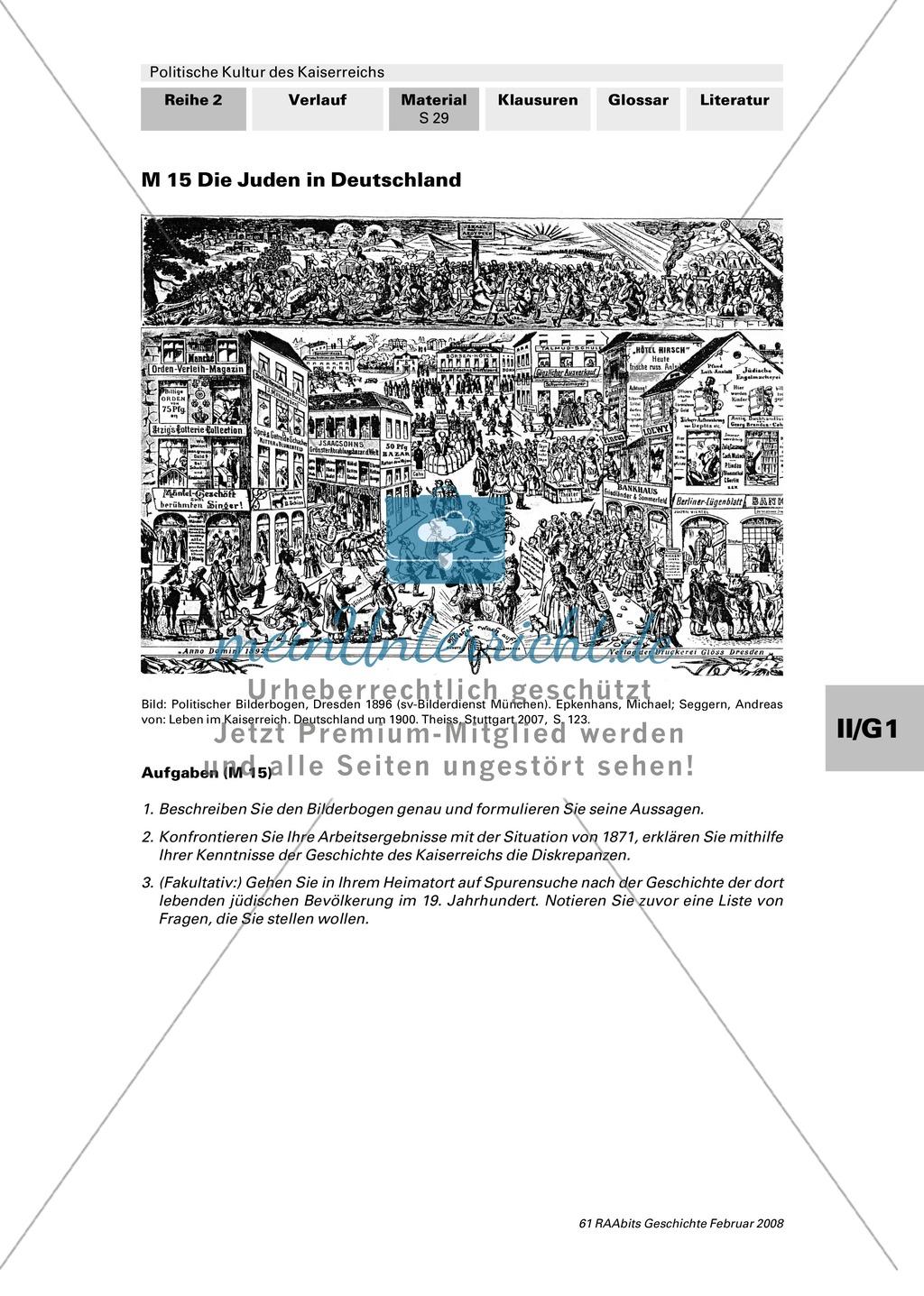 Politische Kultur des Kaiserreichs: Ausgrenzung im Kaiserreich Preview 3