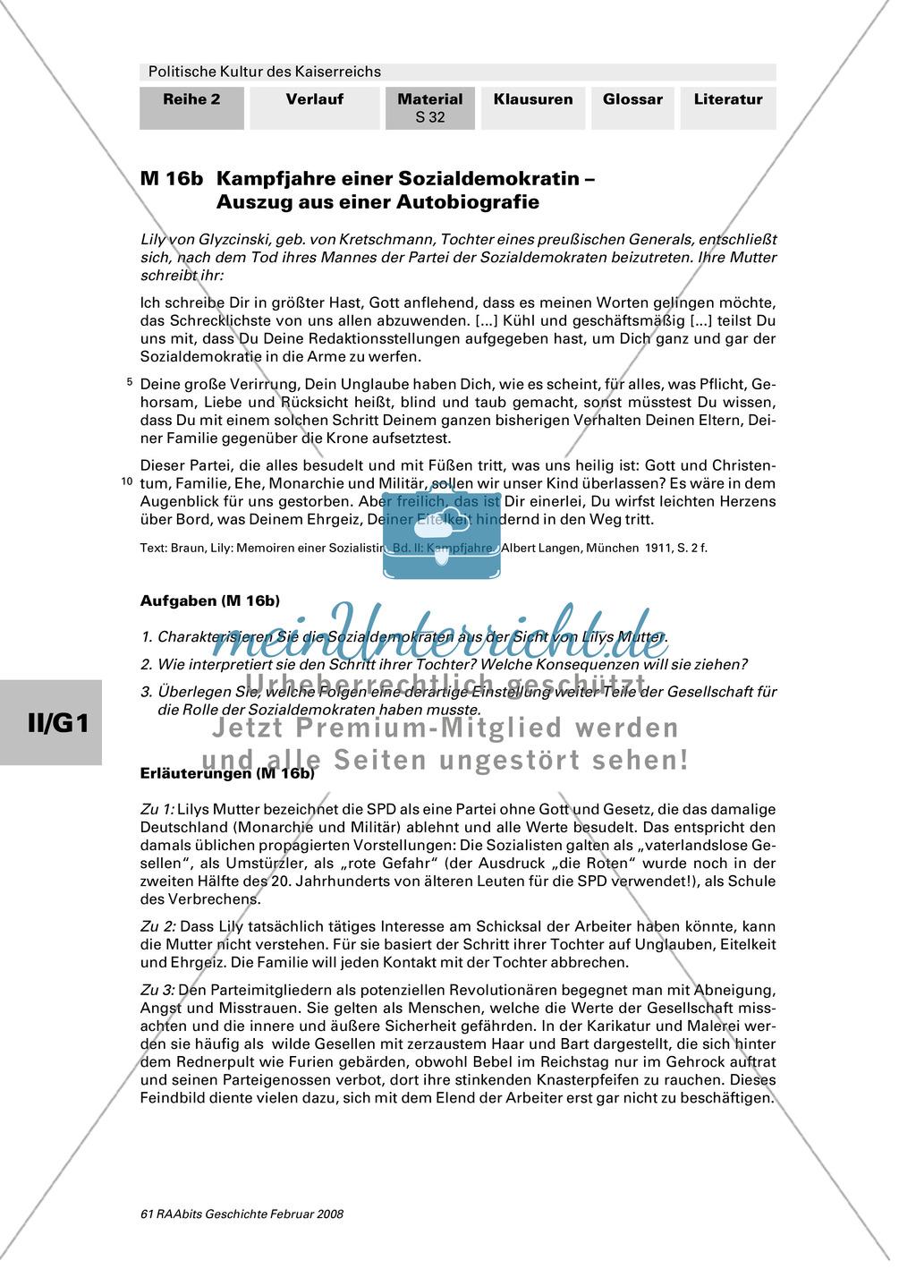 Politische Kultur des Kaiserreichs: Ausgrenzung im Kaiserreich Preview 6