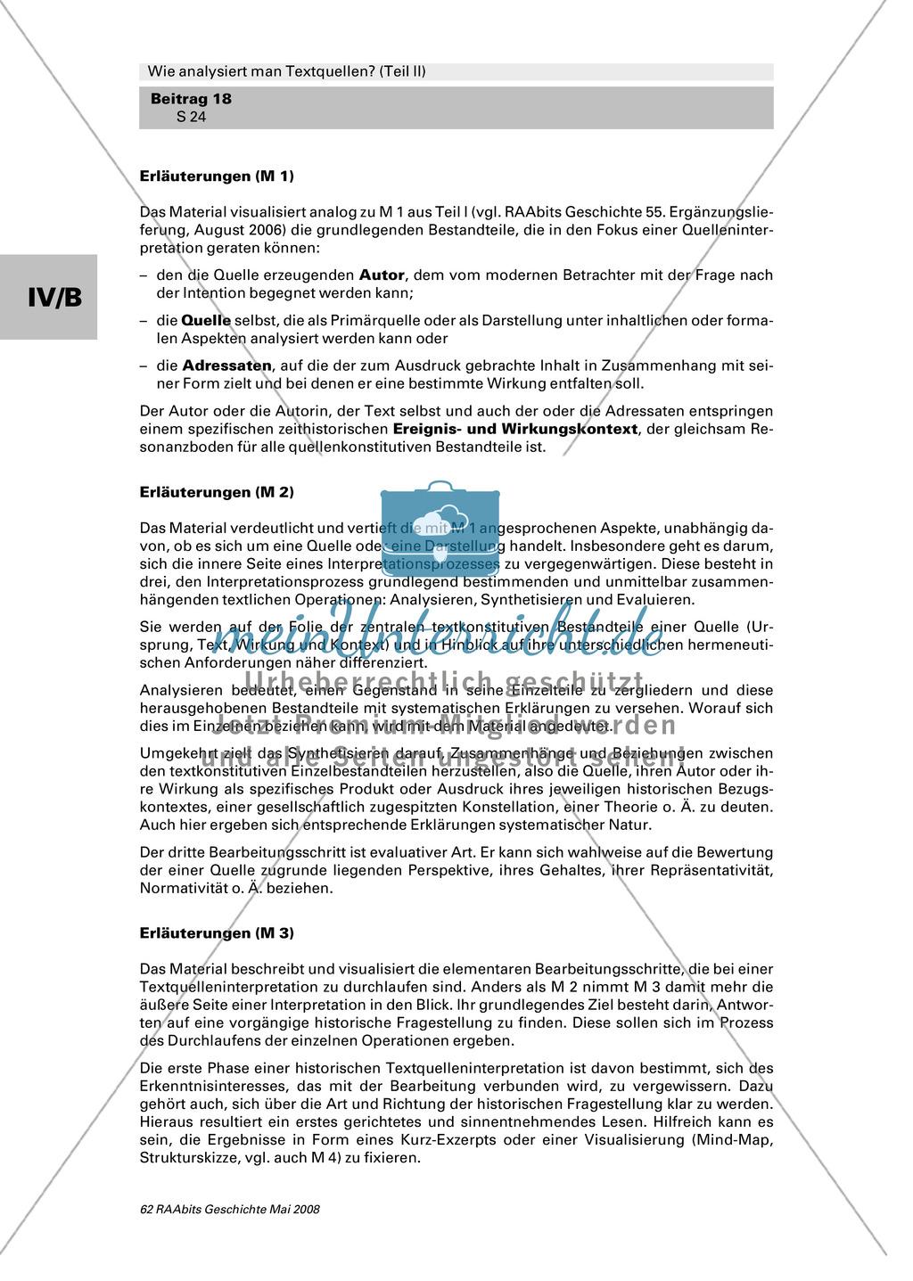 Analyse von Textquellen: Die wichtigsten Schritte einer historischen Textquelleninterpretation an Schaubildern erklärt Preview 3