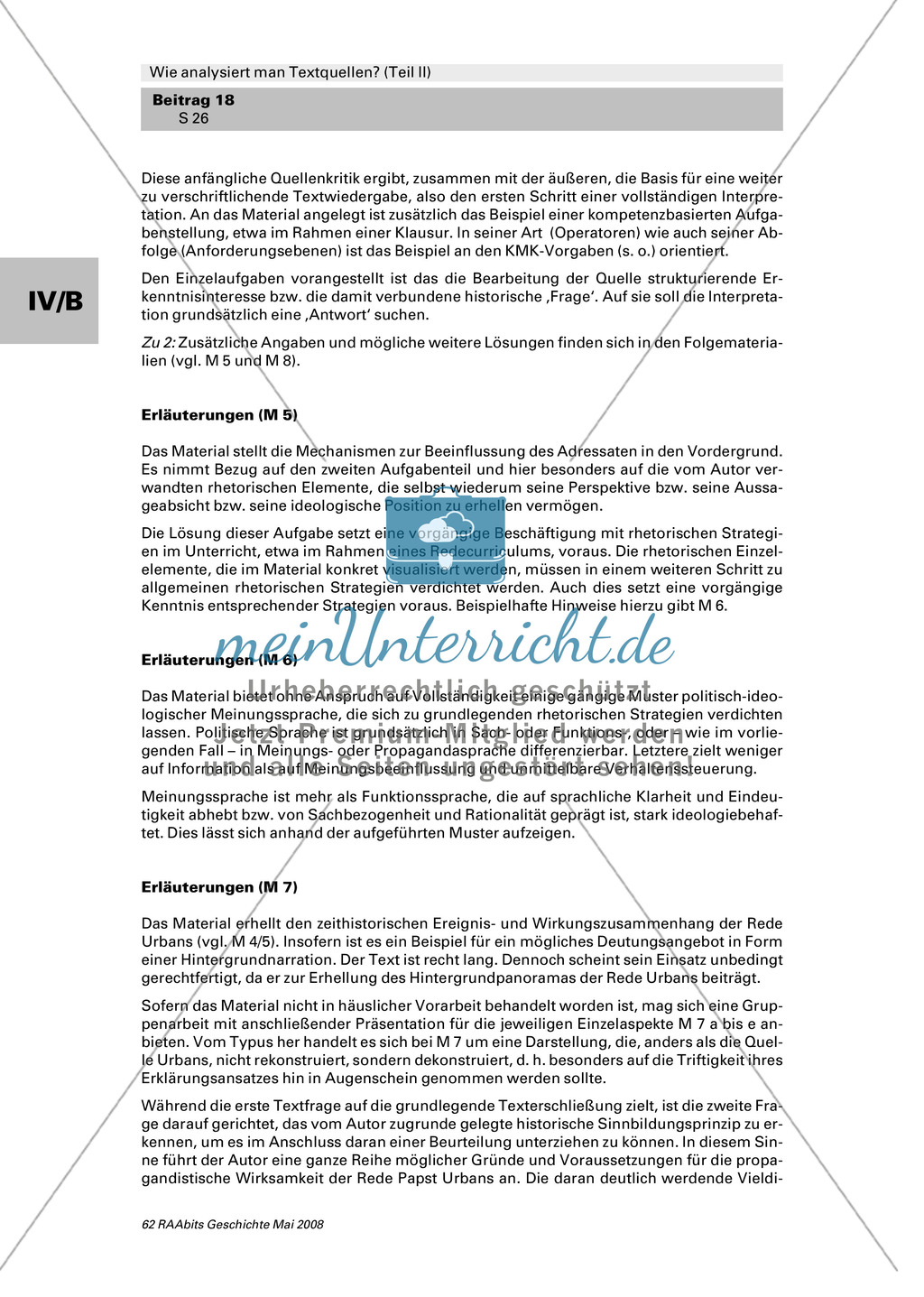 Analyse von Textquellen: Strategien politisch-ideologischer Meinungssprache kennenlernen Preview 1