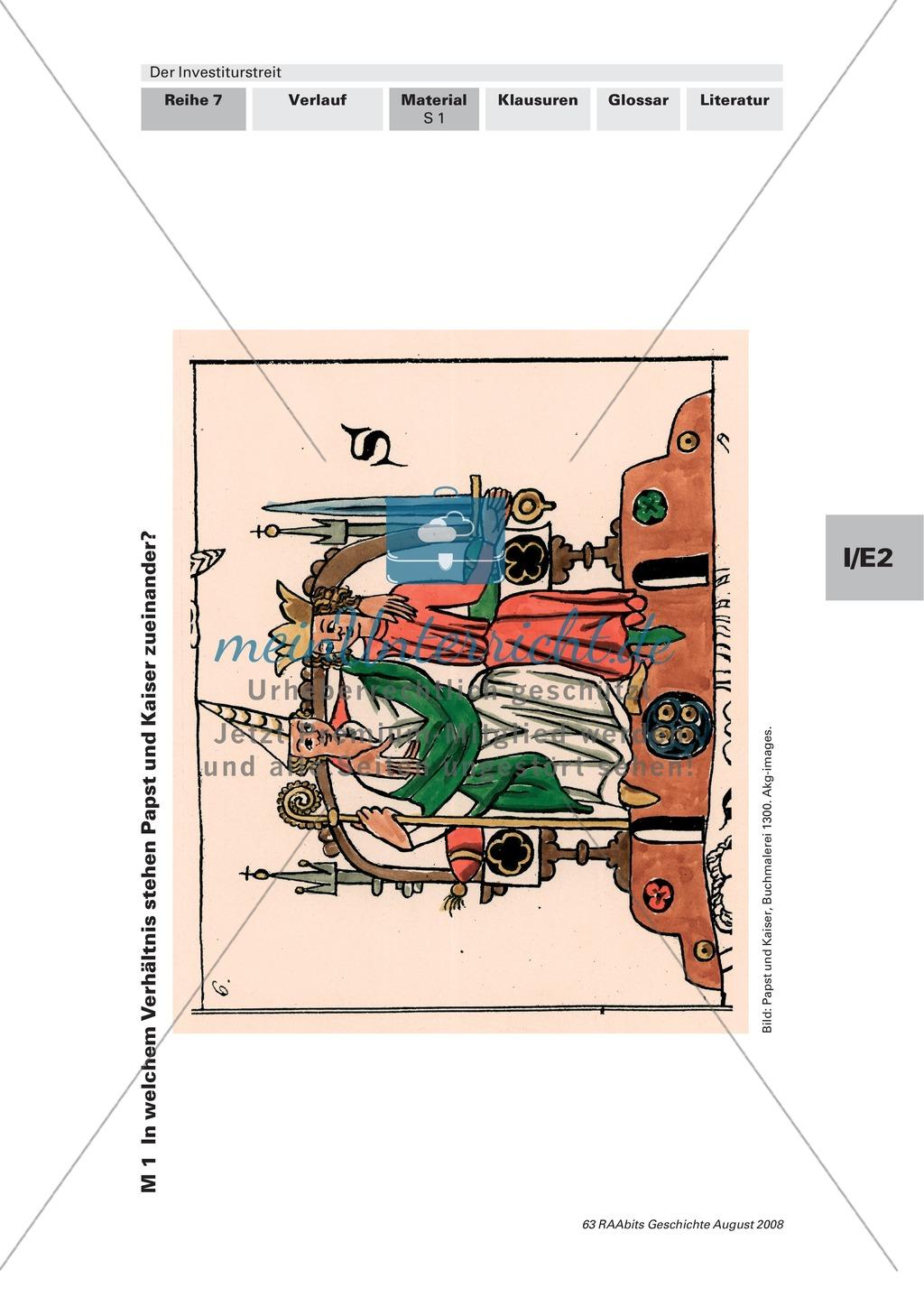 Der Investiturstreit: Ursachen für den 1057 entbrannten Machtkampf zwischen Gregor VII. und Heinrich IV. kennenlernen + einen Brief von Gregor an Heinrich verfassen Preview 0