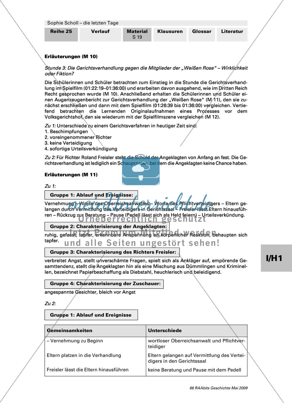 Sophie Scholl - die letzten Tage: Die Gerichtsverhandlung gegen die Mitglieder der
