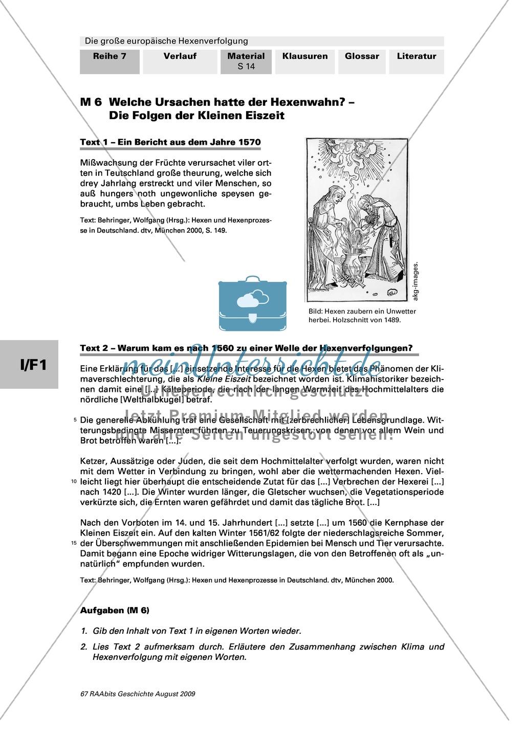 Die große europäische Hexenverfolgung: Ursachen des Hexenwahns + Strafen der Frühen Neuzeit Preview 0
