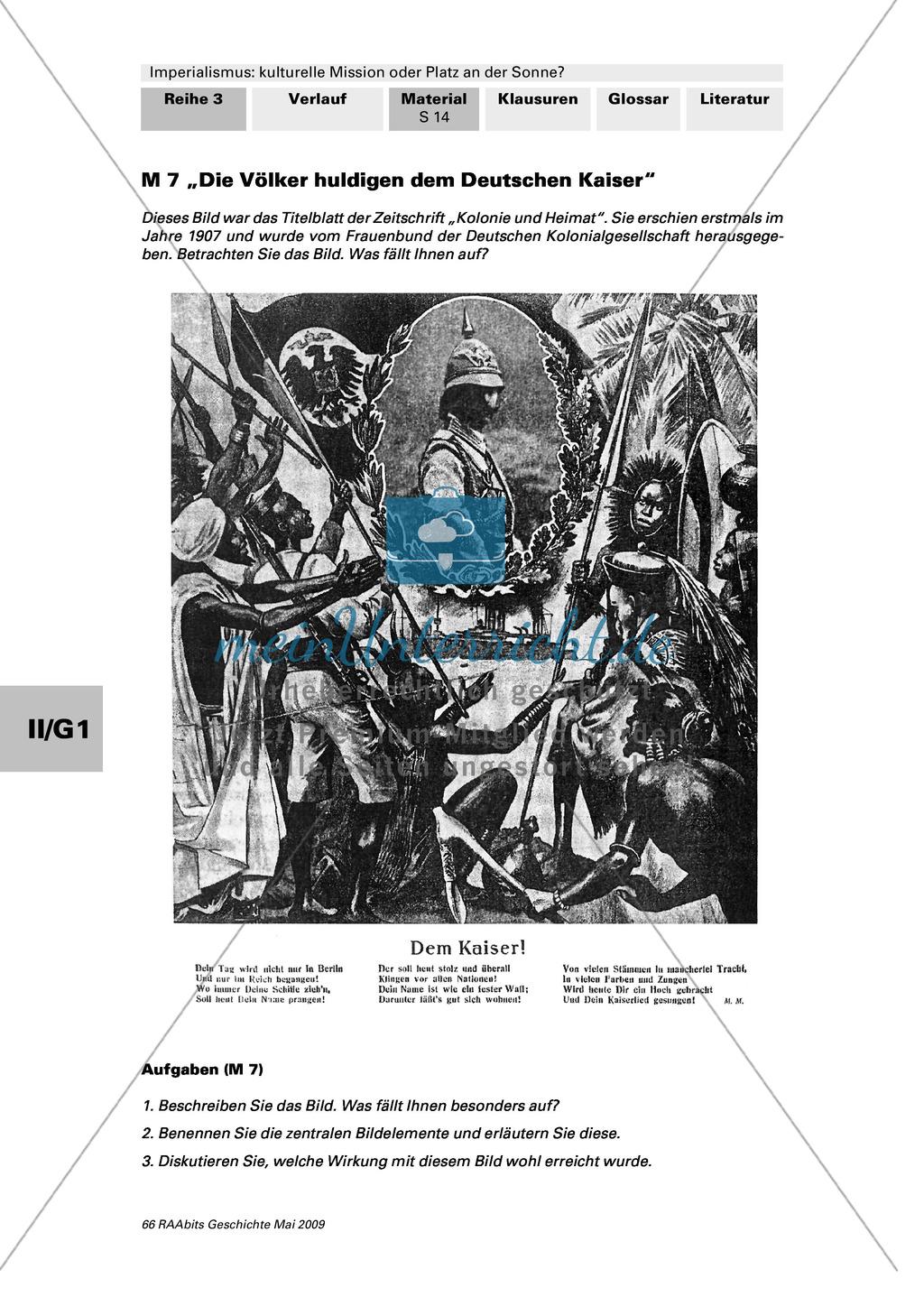 """Imperialismus: Bedeutung der deutschen Kolonialbewegung: Titelblatt: """"Kolonie und Heimat"""" von 1907 + Text: Gründungsaufruf des ADV Preview 1"""