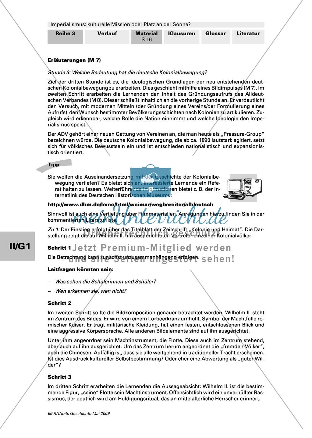 """Imperialismus: Bedeutung der deutschen Kolonialbewegung: Titelblatt: """"Kolonie und Heimat"""" von 1907 + Text: Gründungsaufruf des ADV Preview 3"""