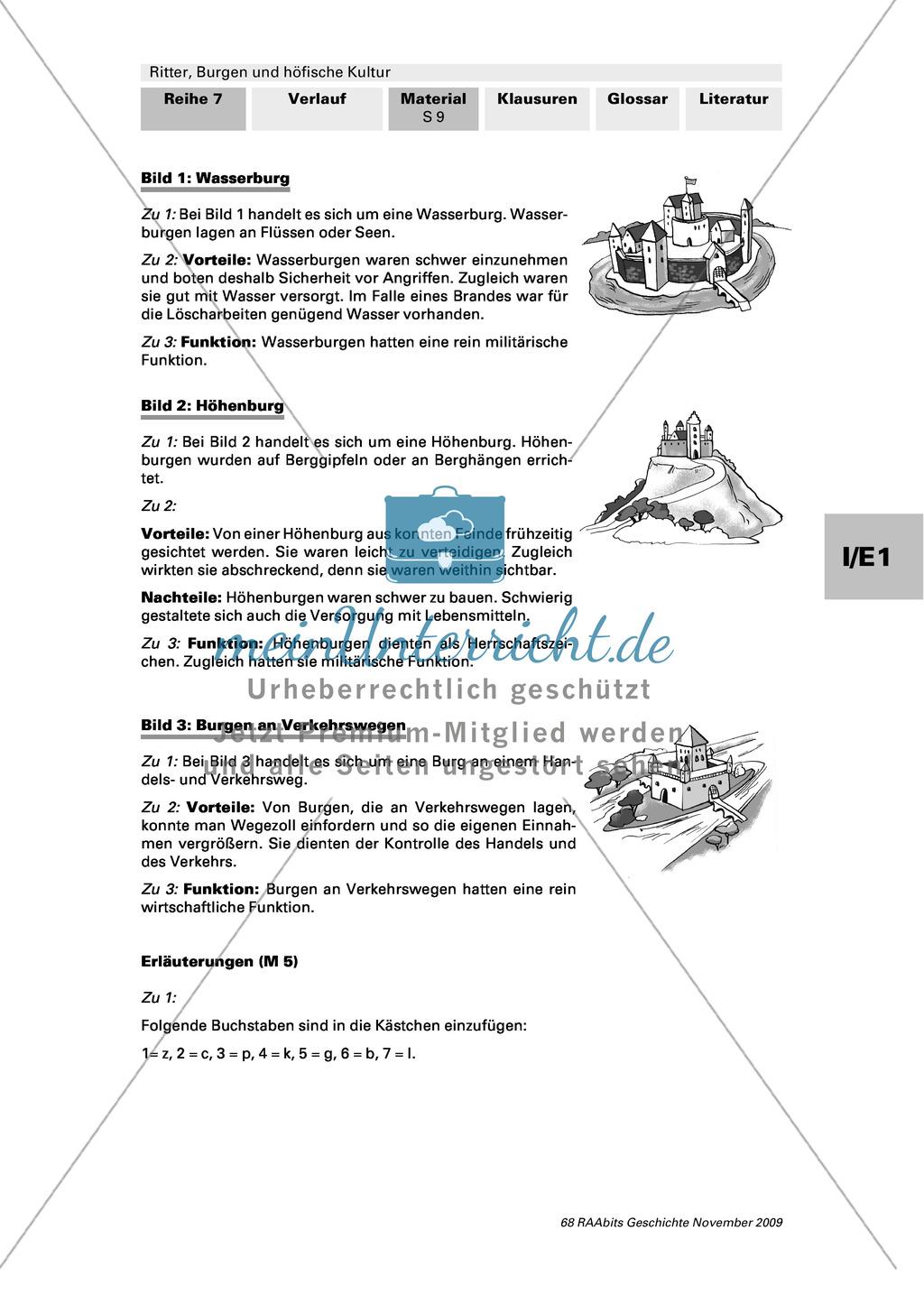Ritter, Burgen und höfische Kultur: Lage und Aufbau mittelalterlicher Ritterburgen Preview 3