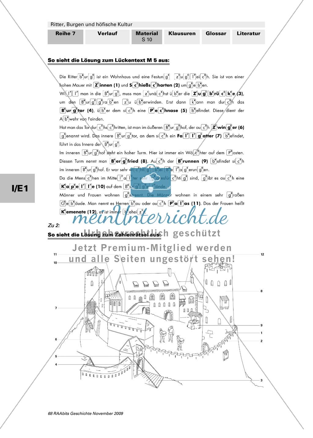 Ritter, Burgen und höfische Kultur: Lage und Aufbau mittelalterlicher Ritterburgen Preview 4